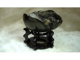 龜甲石聚寶盆(含座)