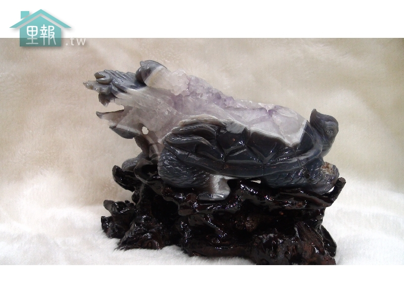 藝禪-瑪腦紫晶招財龍龜