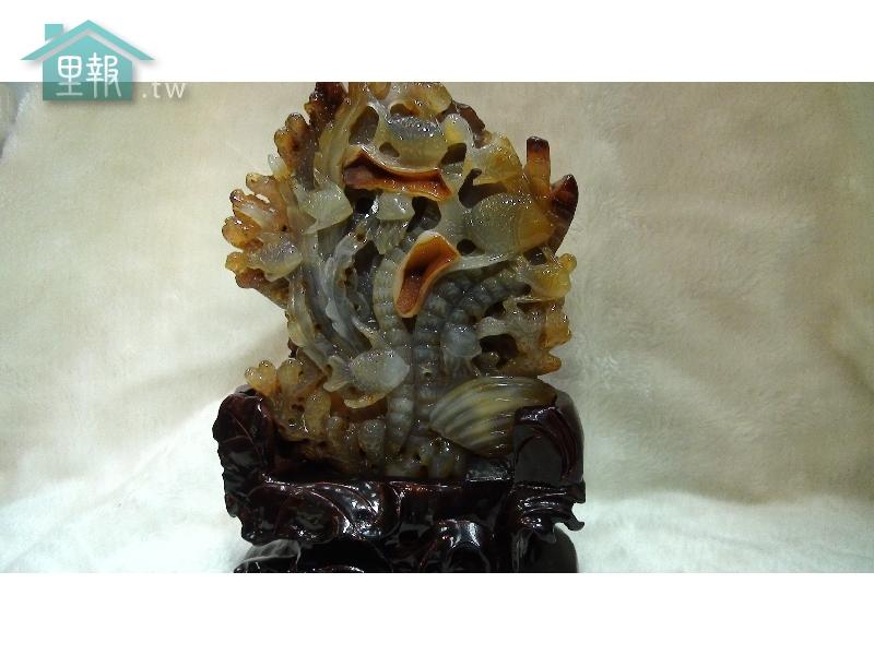 藝禪-瑪瑙雕件-海底世界