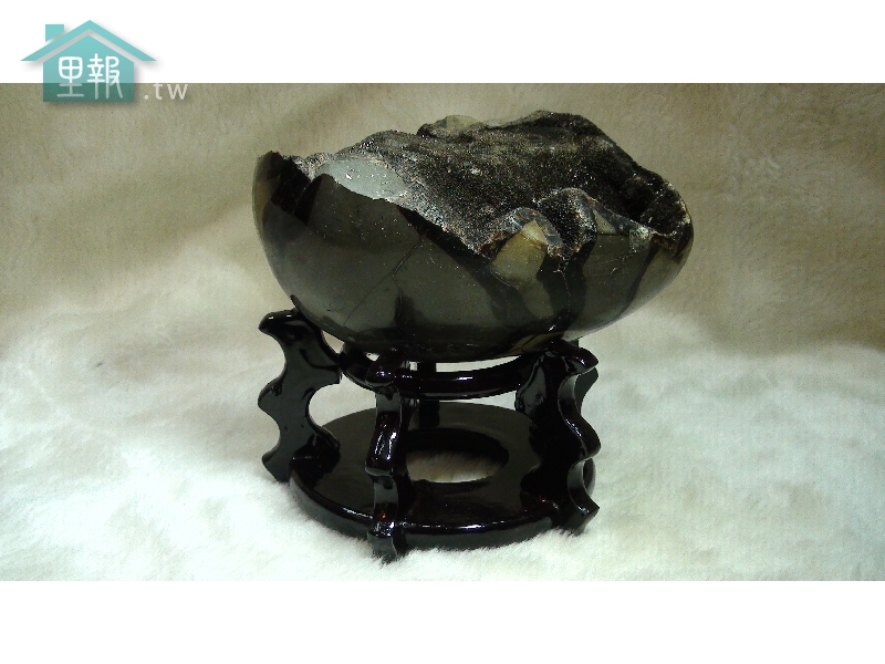 藝禪-龜甲石聚寶盆(含座)